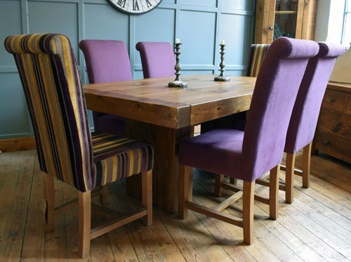 H&F Plank Butchers Cube Dining Table - H&F Plank Dining Room Furniture