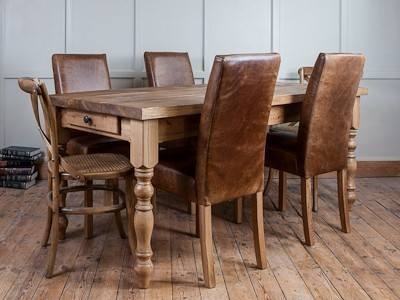 H&F Plank Farmhouse Dining Table