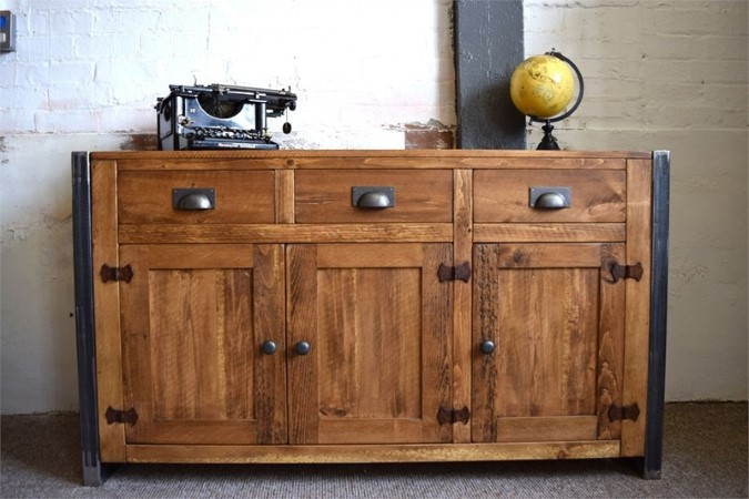 H&F Plank Industrial Sideboard