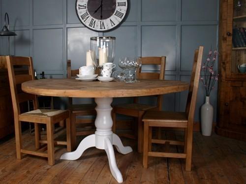 h&f pedestal vintage dining table - h&f plank dining room furniture