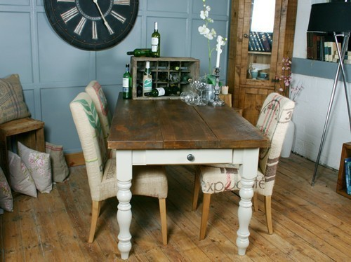 Hu0026F Vintage Farmhouse Dining Table