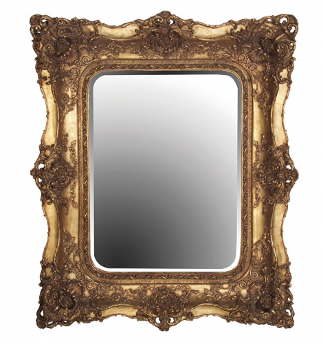 Gold Guilt Square Mirror