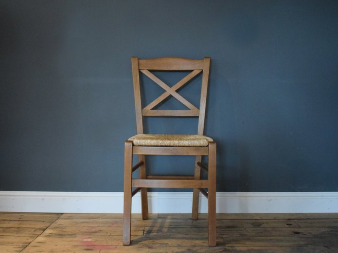 H&F Bistro Dining Chair Wicker Seat