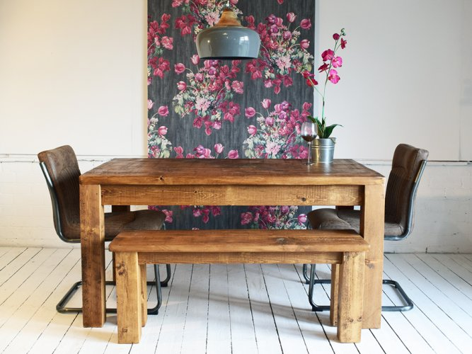 H&F Plank Modern Dining Table