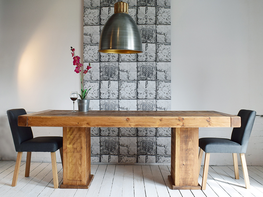 Plank Rustic Farmhouse Dining Room Furniture H F