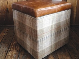 H&F Highland Cube Storage Footstool