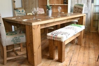 H&F Holmes Hessian Bench