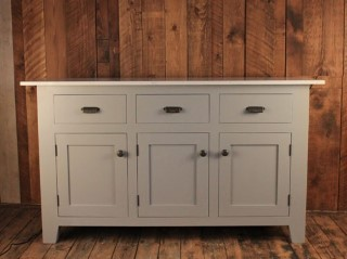 H&F Marble 3 Door 3 Drawer Sideboard