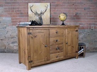 H&F Plank 2 Door 4 Drawer Sideboard