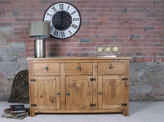 H&F Plank 3 Drawer 3 Door Sideboard