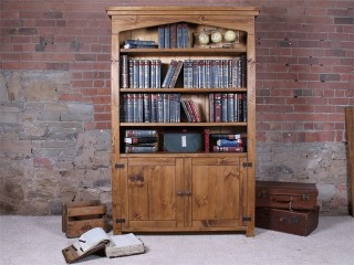 H&F Plank Arch Top Bookcase