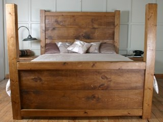 H F Chunky 4 Poster Bed H F Plank Furniture