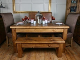 H&F Plank Extending Dining Table