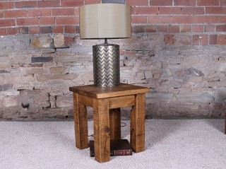 H&F Plank Lamp Table without Shelf
