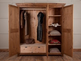 H&F Plank Shelved Wardrobe