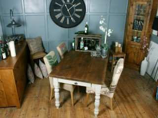 H F Vintage Farmhouse Dining Table H F Plank Dining Room Furniture