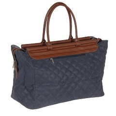 H&F Quilted Blue/Tan Bag