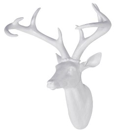 H&F White Resin Deer Head [s]