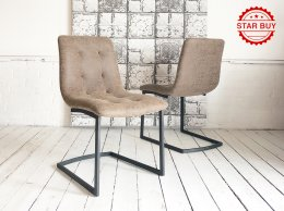 H&F Stockholm Antique Brown Industrial Chair