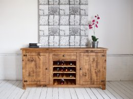 H&F Plank Sideboard with Winerack
