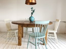 H&F Plank Round Dining Table