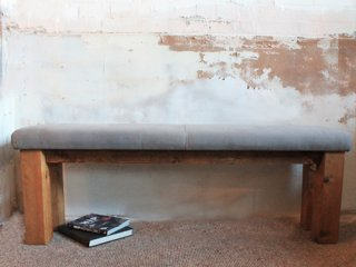 H&F Upholstered Plank Bench