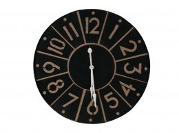 Black Metal & Canvas Clock