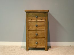 H&F Plank 4 Drawer Bedside