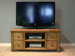 H&F Plank 4 Drawer TV unit