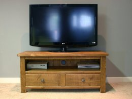 H&F Plank 2 Drawer Plasma TV unit