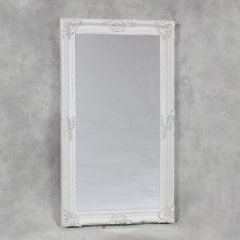 Large White Classic Rectangular Mirror