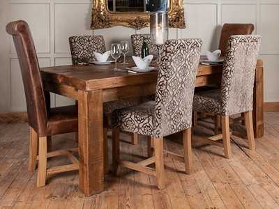 chunky dining table and chairs hampf plank chunky modern dining table