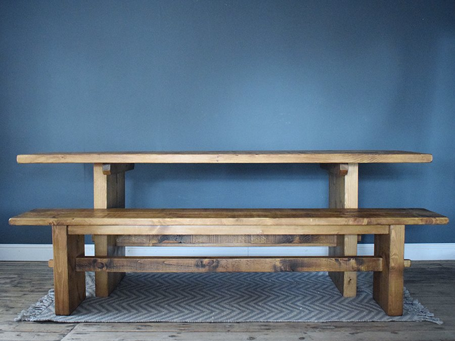 H&F Plank Rustic Rail Table