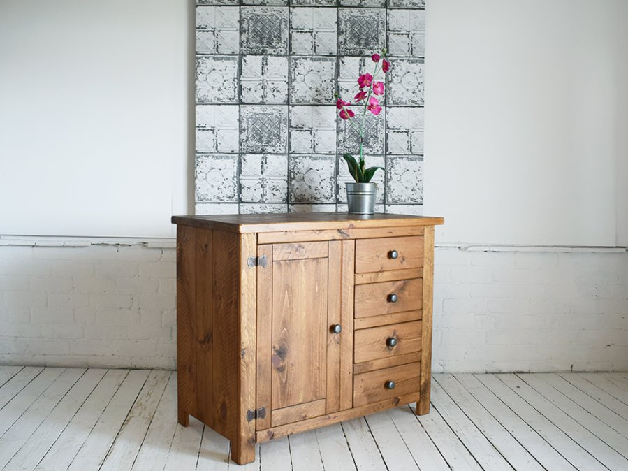 H&F Plank 1 Door 4 Drawer Sideboard