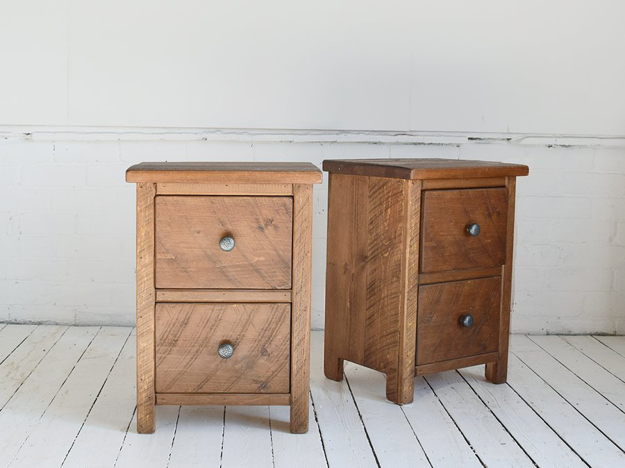 H&F Plank 2 Drawer Bedside