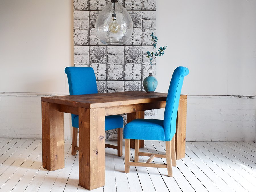 H&F Plank Chunky Modern Dining Table