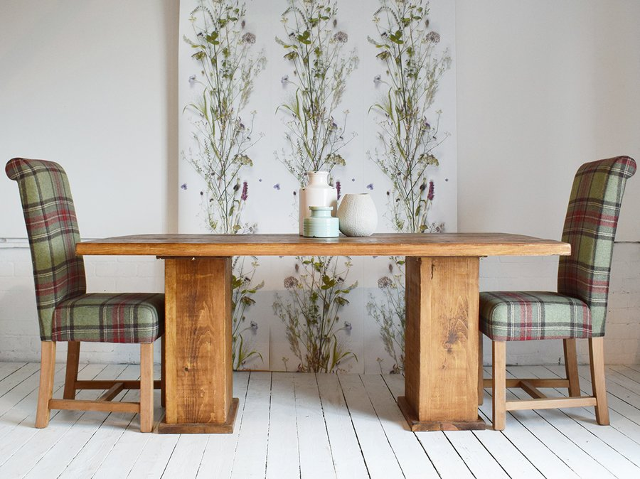 H&F Plank Cube Dining Table